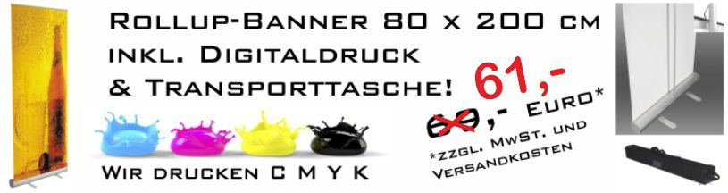 Rollup Banner Angebot